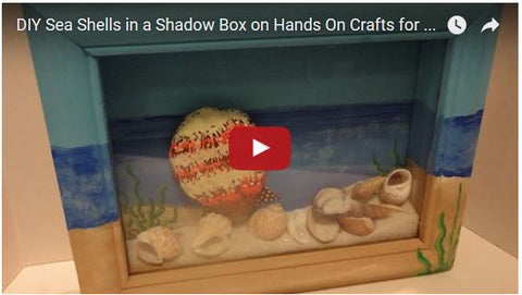 DIY Sea Shells in a Shadow Box on Hands On Crafts for Kids (1508-1)
