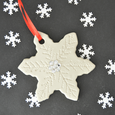 decorative air drying clay gift tag