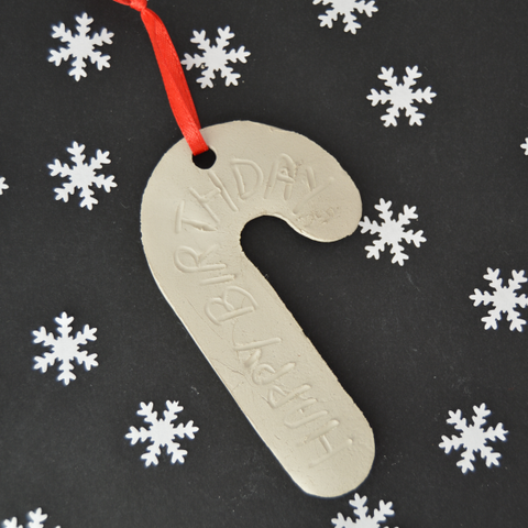self drying clay gift tag