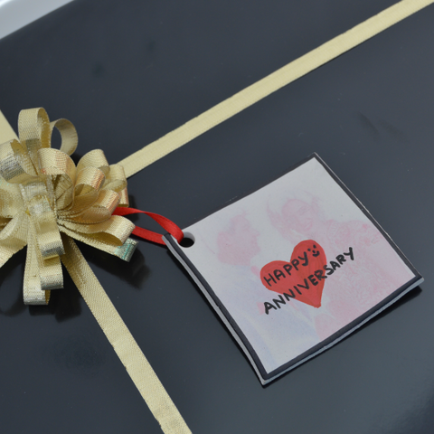 anniversary clay gift tag