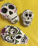 painted sugar skull paper mache