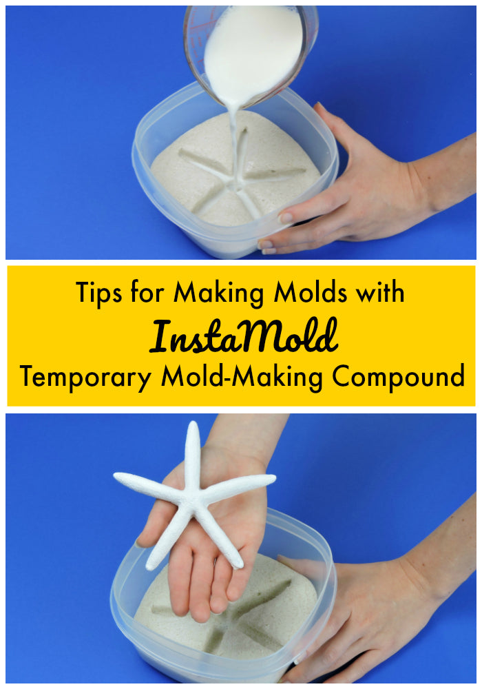InstaMold is a temporary mold-making compound that lets you make perfect reproductions of almost any object! Get our best tips and tricks for using InstaMold in this blog post!  #moldmaking #instamold #casting