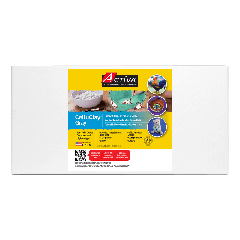 5 lb Bag Gray Activa Products Celluclay Non-Toxic Instant Papier-Mache