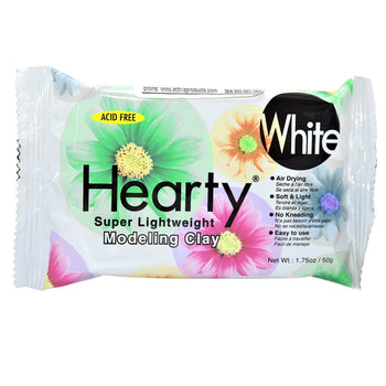 Hearty Super Lightweight Modeling Clay, White, 1.75 oz (50 g)