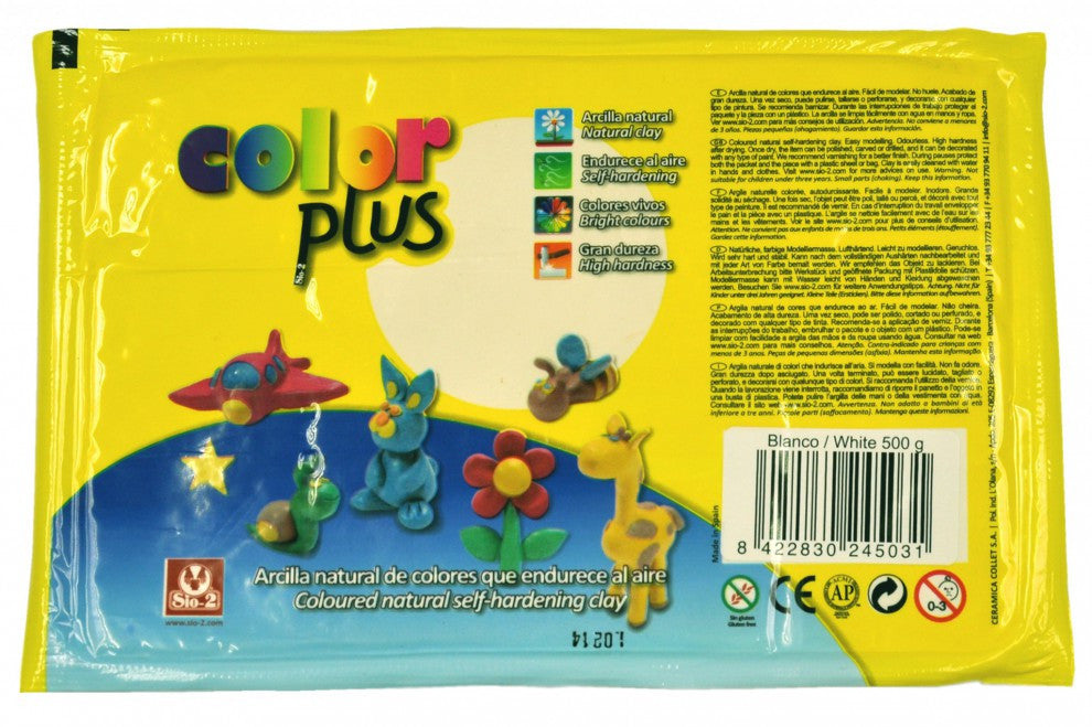 Color Plus SiO2 (1.1 lb) - Colored Air Dry Clay