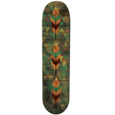 Aztec Green Coloured Skateboard