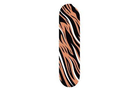 Brown Zebra Print Skateboard