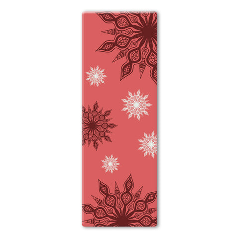 Red Coloured Mandala Plain Yoga Mat
