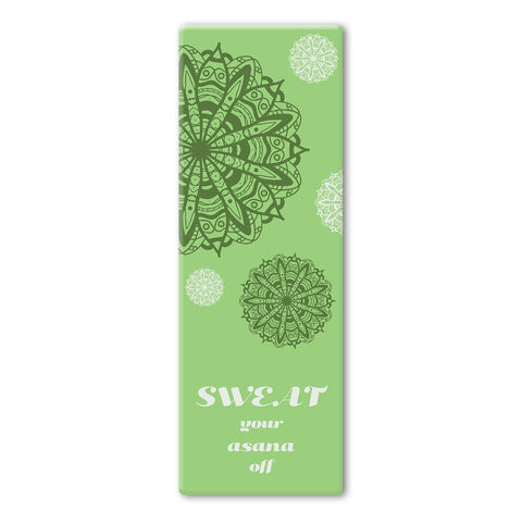 Green Coloured Mandala Sweat Yoga Mat