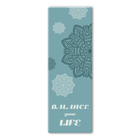 Blue Coloured Mandala Balance Yoga Mat