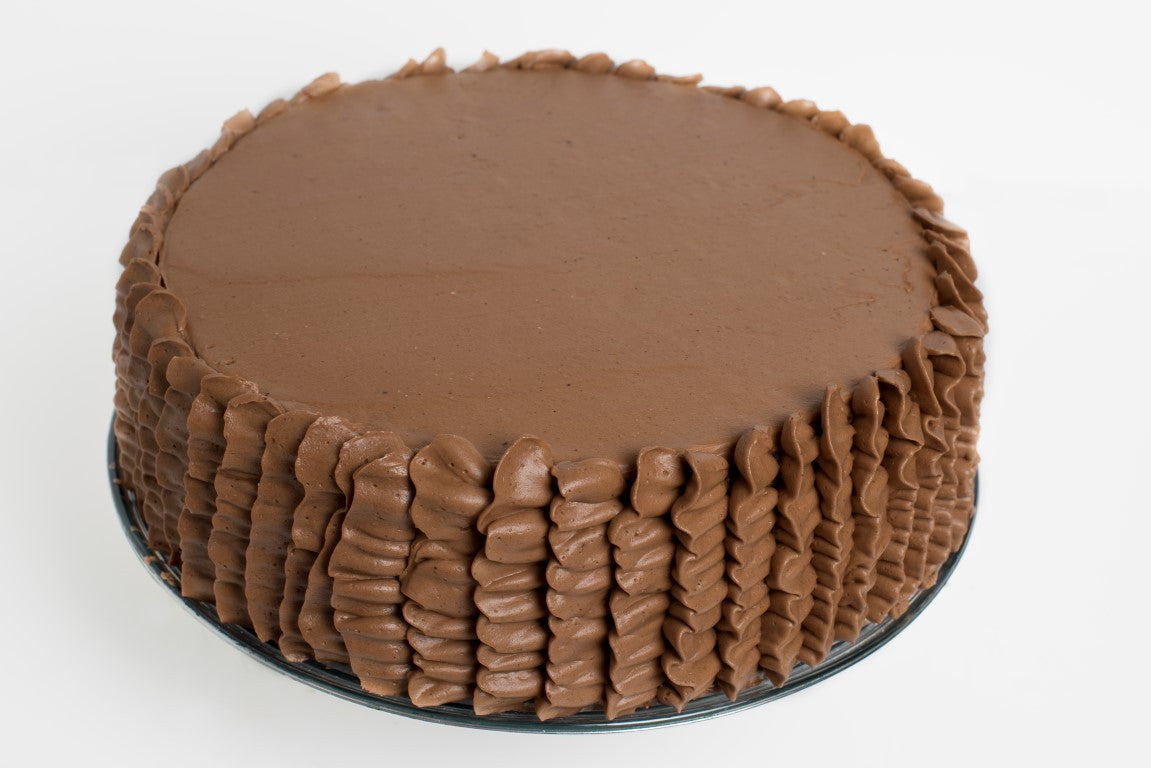 Chocolate Cake with Chocolate Italian Meringue Buttercream