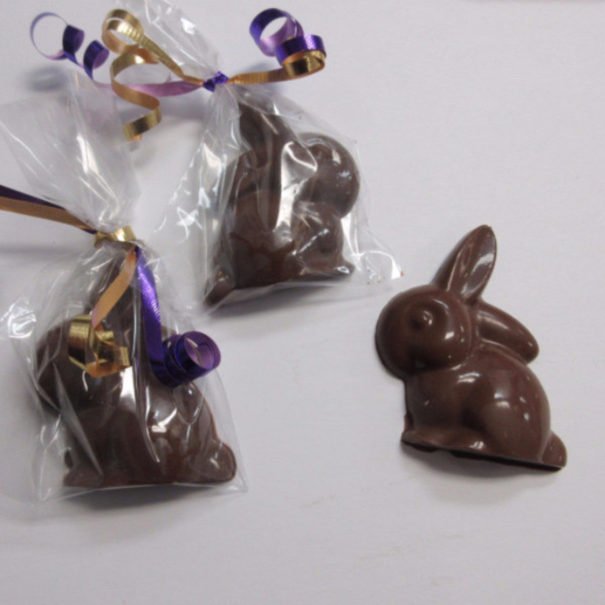 Small Chocolate Bunny,Safari Cake Boutique in Kingston sells chocolate lollipops for Easter. We are a Nut free & Peanut Free Bakery. Available in White, dark or mild chocolate. Call us today 613.384.5100