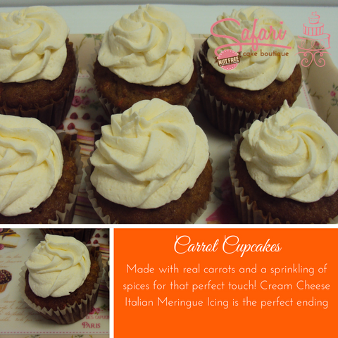 Carrot and Cream Cheese Cupcakes
