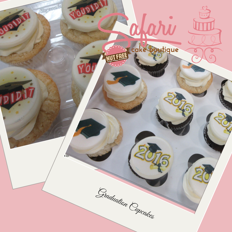 Graduation Cupcakes with a PhotoCake Topper