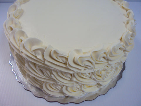 Vanilla Cake with Italian Meringue Buttercream