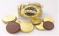 Vermont Nut-Free Chocolate Coins at Safari Cake Boutique