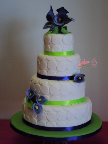 Purple & Green Wedding Cake