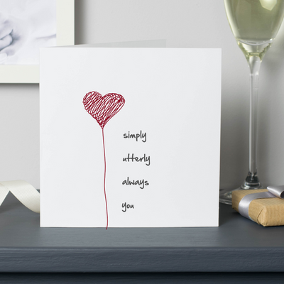 anniversary card love heart