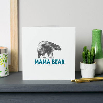 'Mama Bear' card for mummy on mothers day