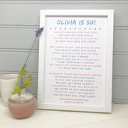 personalised 50th birthday gift poem for her
