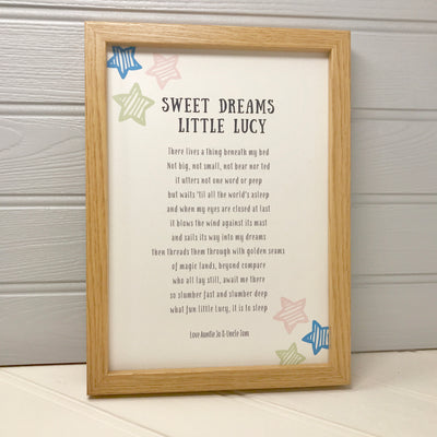 Childs bedtime story print