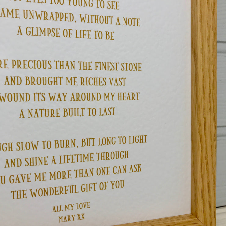 personalised 50th wedding anniversary gift poem