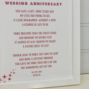 40th wedding anniversary gift