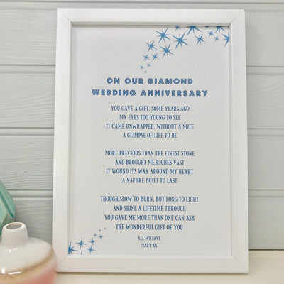 diamond wedding anniversary gift for husband