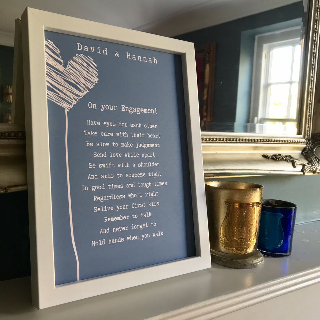 Engagement Poem - Blue