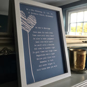 personalised marriage print