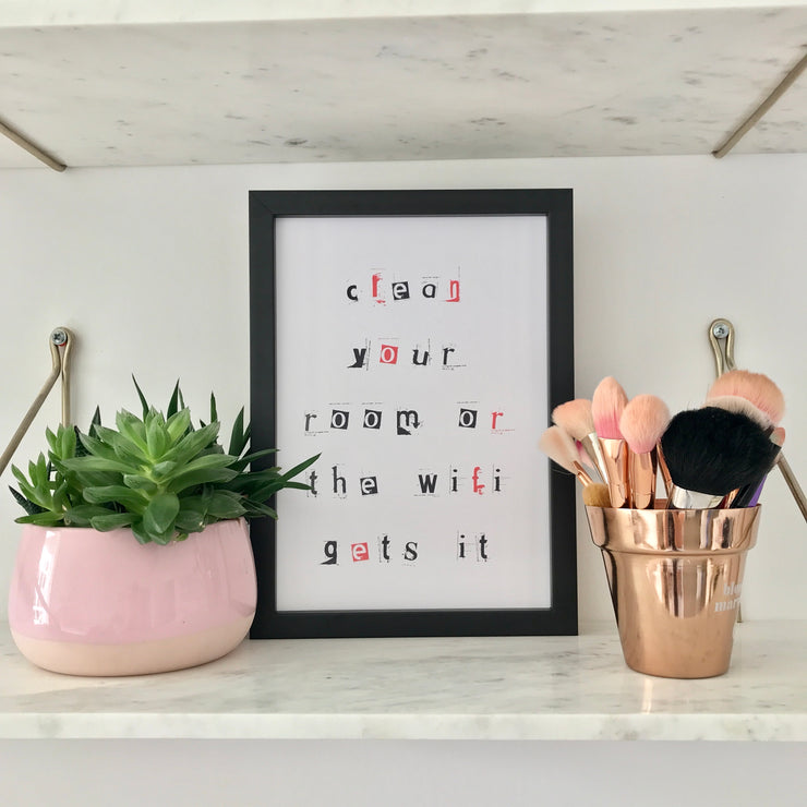 funny wall decor for a teenager