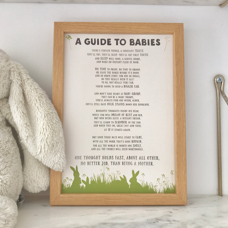 funny baby shower poem print