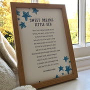 Personalised first birthday gift print
