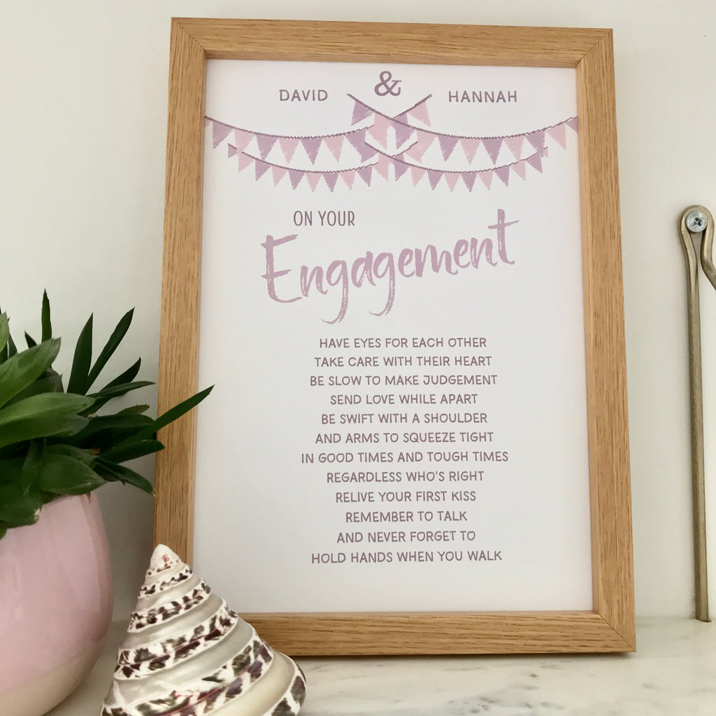 Personalised Named Engagement Poem