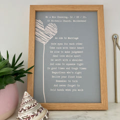 wedding print marriage poem