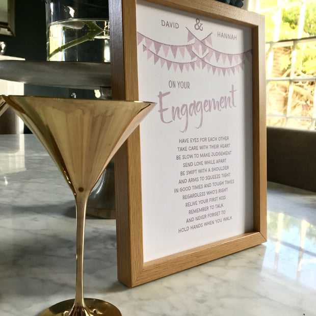 engagement print gift