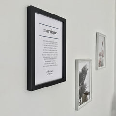 Marriage Poem Print in Monochrome