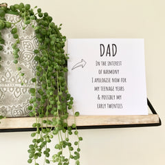 Dad Card (free postage)