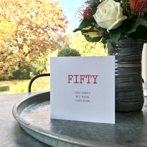 Fifty Birthday Card (free postage)