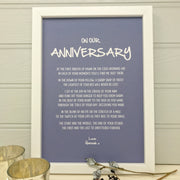 wedding anniversary poem print for her
