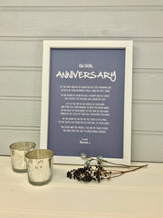 personalised wedding anniversary gift poem