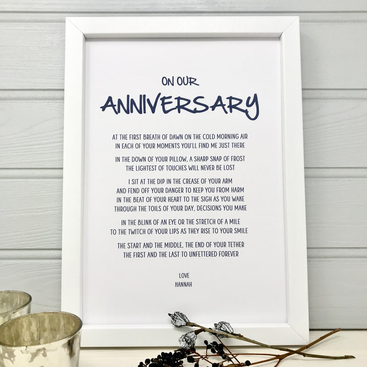 wedding anniversary poem