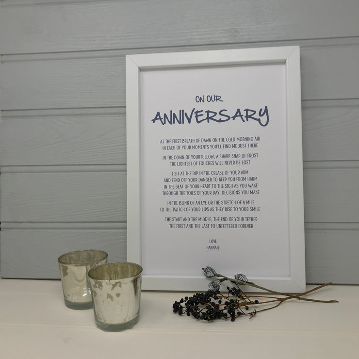personalised anniversary gift for wife