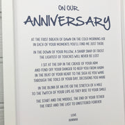 personalised anniversary gift poem