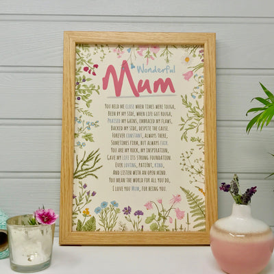 personalised Mum poem