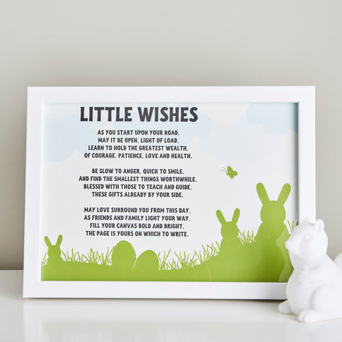 Gift for a Baby - Little Wishes Poem