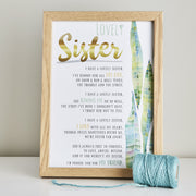 funny birthday gift poem for sisters