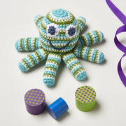 crochet octopus rattle toy