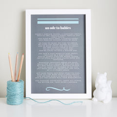 Baby shower gift poem