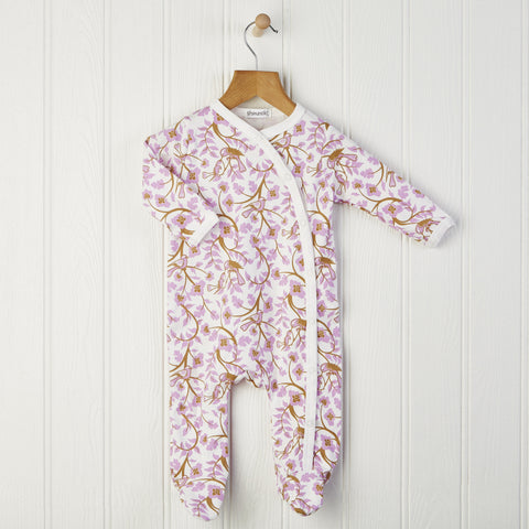 Pink and White Woodland Babygrow